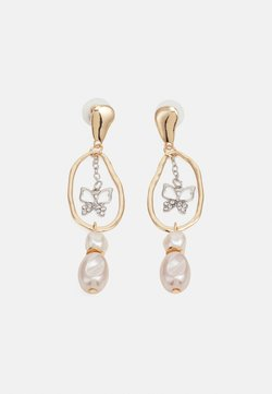 sweet deluxe - CATHLIN - Earrings - gold-coloured/silver-coloured/crystal