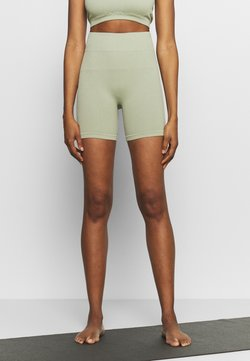 South Beach - SEAMLESS CYCLE SHORT - Tights - dessert sage