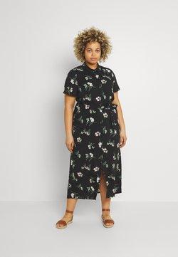 Vero Moda Curve - VMSIMPLY EASY LONG - Blusenkleid - black