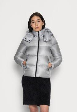 Calvin Klein Jeans - SHINY SHORT PUFFER JACKET - Talvitakki - marble grey