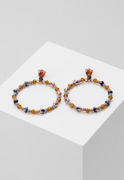 Konplott - BEAT OF THE BEADS - Ohrringe - blue/brown