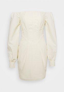 Missguided - CORSET DETAIL BARDOT MINI DRESS - Cocktailkleid/festliches Kleid - cream