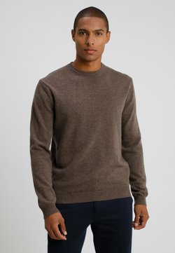 Benetton - BASIC CREWNECK - Strikkegenser - brown