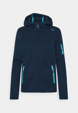 CMP - WOMAN FIX HOOD JACKET - Fleecejacke - blue pool