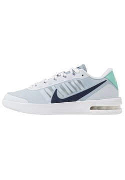Nike Performance - COURT AIR MAX VAPOR WING - Multicourt Tennisschuh - football grey/midnight navy