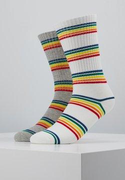 Urban Classics - RAINBOW   2 PACK - Socken - grey/white
