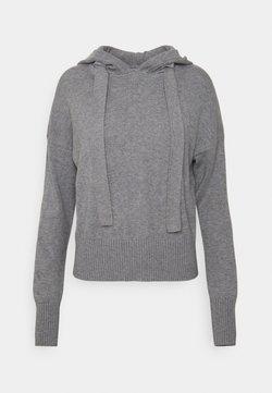 Noisy May Petite - NMSHIP HOODIE - Jersey de punto - medium grey melange