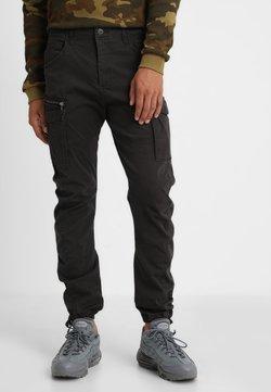 Jack & Jones - JJIDRAKE JJCHOP BLACK - Cargo trousers - black