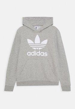 adidas Originals - TREFOIL HOODIE UNISEX - Kapuzenpullover - medium grey heather/white