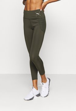 Puma - NU-TILITY HIGH WAIST 7/8 LEGGINGS - Trikoot - forest night