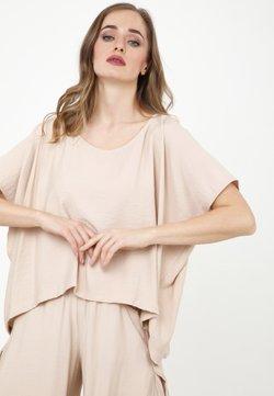 Madam-T - SHARON - T-shirt basic - beige