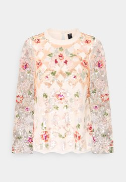 Needle & Thread - HARLEQUIN ROSE SEQUIN TOP - Bluse - champagne