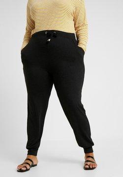 ONLY Carmakoma - CARCARMA PANTS - Jogginghose - black/melange