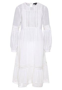 Selected Femme Petite - SLFVALENTINA MIDI DRESS PETITE - Vestido informal - snow white