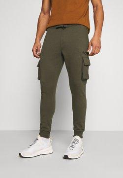 Burton Menswear London - CARGO ZIP JOGGER - Jogginghose - khaki