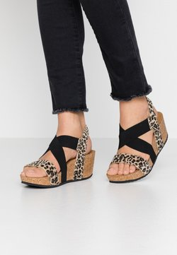 Copenhagen Shoes - STACIA LEOPARD - Plateausandalette - brown