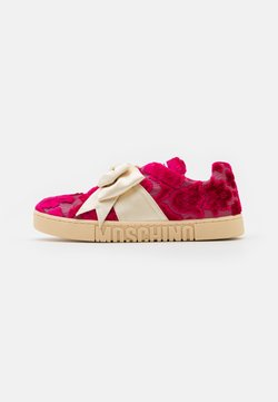 MOSCHINO - Baskets basses - red