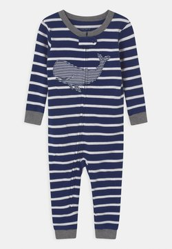 Carter's - WHALE FOOTLESS - Pyjama - dark blue