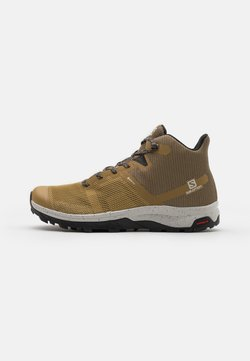 Salomon - OUTLINE PRISM MID GTX - Hiking shoes - kelp/bleached sand/lunar rock
