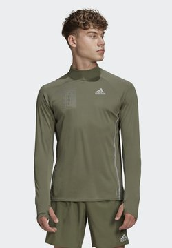 adidas Performance - REFLECTIVE LONG-SLEEVE TOP - Maglietta a manica lunga - green