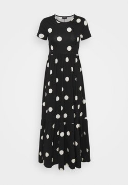 Even&Odd - Maxiklänning - black/white