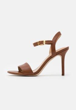Lauren Ralph Lauren - GWEN - Sandalen met hoge hak - deep saddle tan
