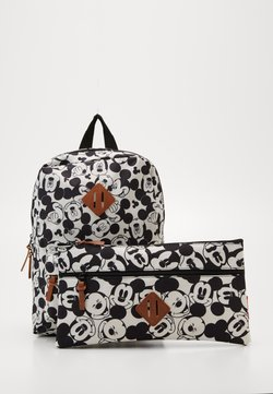 Kidzroom - BACKPACK AND PENCIL CASE MICKEY MOUSE ALL TOGETHER SET - Cartable d'école - black/white