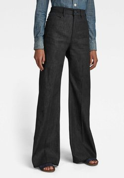 G-Star - DECK ULTRA HIGH - Flared Jeans - pitch black
