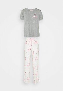 Boux Avenue - PEEKABOO FLAMINGO - Pyjama - grey mix