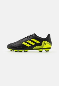 adidas Performance - COPA SENSE.4 FXG - Moulded stud football boots - core black/solar yellow
