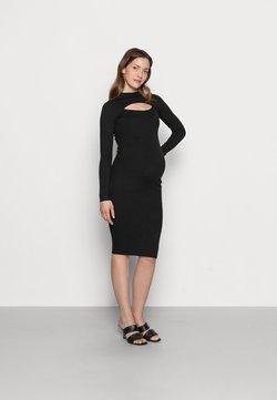 Anna Field MAMA - ROLL NECK CUT OUT DRESS MATERNITY  - Sukienka dzianinowa - black