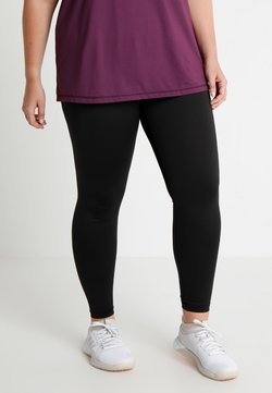 Active by Zizzi - BASIC ANCLE PANT - Tights - black