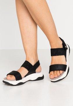XTI - Sandalen met plateauzool - black