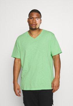Jack´s Sportswear - RAW VNECK SLUB TEE - T-shirt basic - green