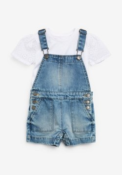 Next - 2 PIECE SET - Tuinbroek - light-blue denim