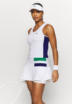 Lacoste Sport - TENNIS TANK - Funktionsshirt - white/cosmic greenfinch/black