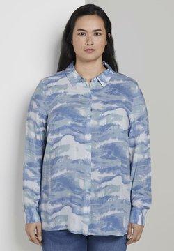 MY TRUE ME TOM TAILOR - BLUSEN & SHIRTS BLUSE IM TIE-DYE LOOK - Hemdbluse - bluish tie dye