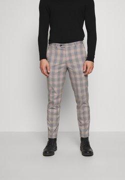 Jack & Jones PREMIUM - JPRBLAKEVIN CHECK TROUSER - Suit trousers - grey melange