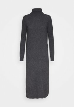 pure cashmere - TURTLENECK DRESS - Maxikleid - graphite