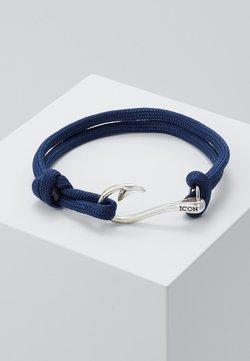 Icon Brand - HOOKED BRACELET - Bracelet - navy/silver-coloured