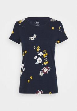 GAP Petite - CREW - T-Shirt print - navy