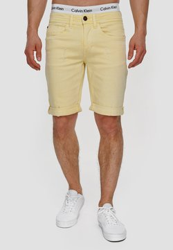INDICODE JEANS - Shorts di jeans - pale banana