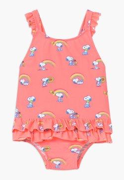 Sunuva - GIRLS PINK SNOOPY FRILL SWIMSUIT - Uimapuku - pink