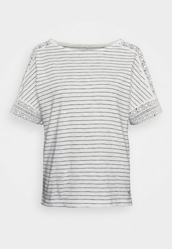 s.Oliver - KURZARM - T-Shirt print - creme