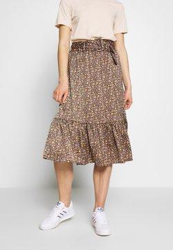 YAS - YASSIERRA MIDI SKIRT  - A-line skirt - black/sierra