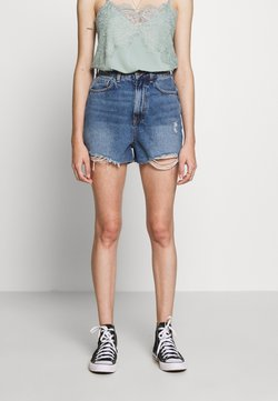 New Look Petite - HIGH RISE BEYONCE - Jeansshort - mid blue