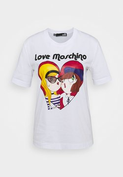 Love Moschino - T-shirt con stampa - optical white