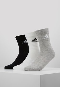 adidas Performance - CUSH 3 PACK - Sportsocken - medium grey heather/black