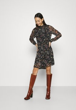 Vero Moda - VMTILI HIGH NECK SHORT DRESS - Freizeitkleid - black/tiny