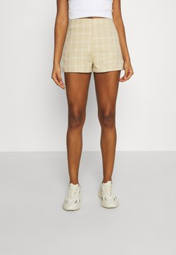 Missguided - CHECK - Shorts - beige